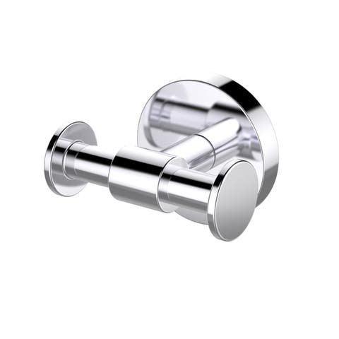 Eviva Twin Bullet Towel or Robe Hook Round Design (Brushed Nickel) Bathroom Accessories