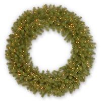 "48"" Downswept Douglas Fir Wreath with Clear Lights"
