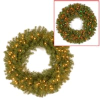 "36"" Norwood Fir Wreath with Battery Operated Dual Color® LED Lights"