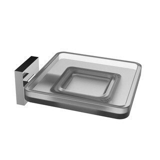 Eviva Plater Glass Soap Holder Wall Mount (Brushed Nickel)