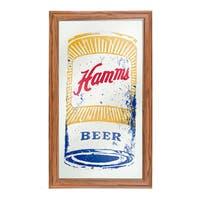 Hamm's Framed Logo Mirror - Can