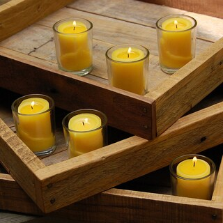12 Citronella Candles in Clear Glass Votives