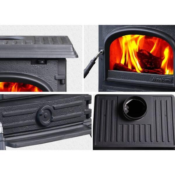 Shop Hiflame Pony Hf517ub Freestanding 1200 Sq Ft Cast Iron Wood