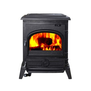 HiFlame Pony HF517U Black Cast Iron EPA-approved Freestanding Small Wood-burning Stove