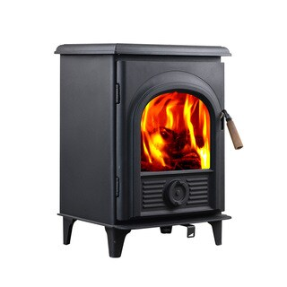 HiFlame Shetland HF905U Black Small Wood Burning Stove