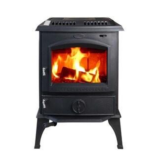 HiFlame HF717U PBL Black Cast Iron Mid-sized Freestanding Wood Stove