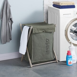 The Danya B. Army Canvas Folding Laundry Hamper