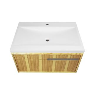 Decolav Cityscape Collection Wall-mount Vanity With Solid Surface Countertop