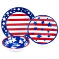 Deals on Certified International Stars & Stripes Melamine 12-Piece Dinnerware Set