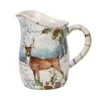 Certified International  Winter's Lodge Pitcher