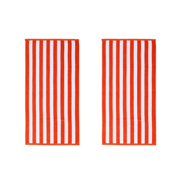 Cabana Stripe 30-inch x 60-inch Beach Towels (Set of 2)