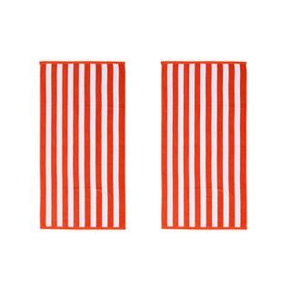 Cabana Stripe 30-inch x 60-inch Beach Towels (Set of 2)