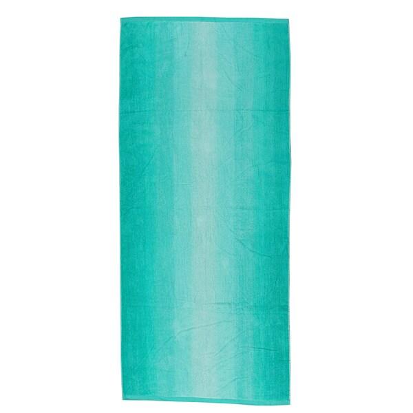 "Green Ombre 40""x70"" Velour Beach Towel"