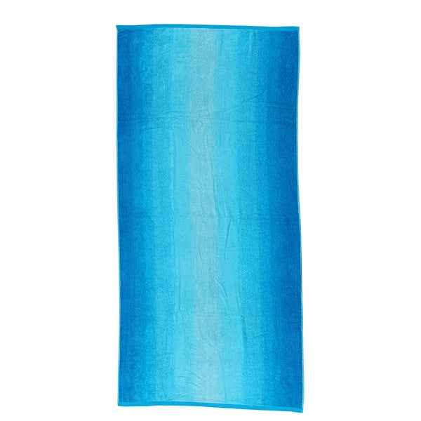 Blue Ombre 40-inch x 70-inch Velour Beach Towel