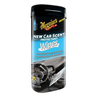 Meguiar's New Car Scent Protectant Wipes (25 Wipes)