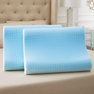 TruPedic Molded TruGEL Memory Foam Contour Pillow with Soft Touch Mesh Cover