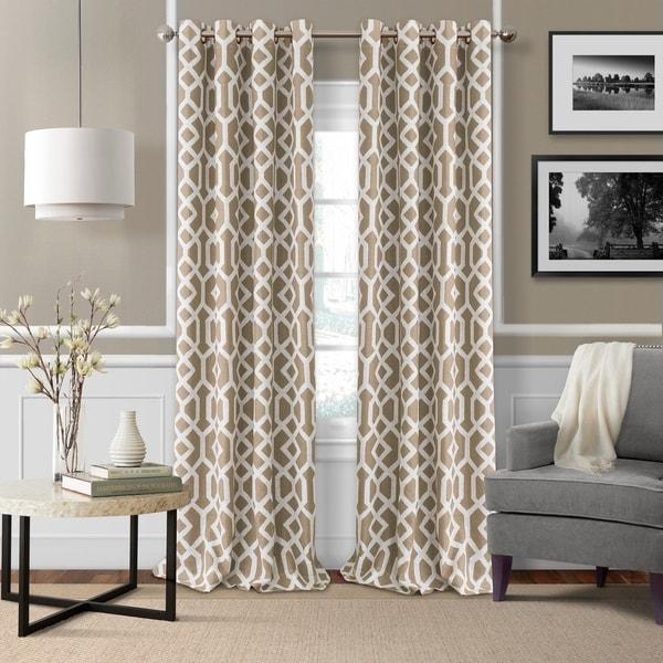 Elrene Grayson Trellis Room Darkening Window Curtains