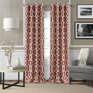 Elrene Greyson Blackout Room Darkening Grommet Linen Curtain Panel - N/A