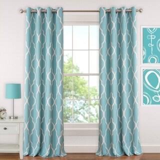 Elrene Emery Blackout Room Darkening Grommet Linen Curtain Panel