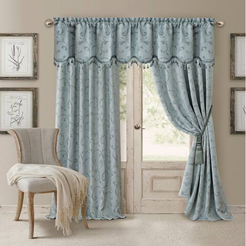 Elrene Mia Jacquard Blackout Curtain Panel