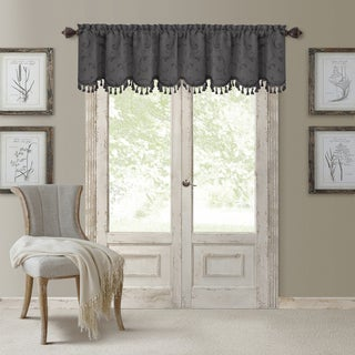 Elrene Mia Jacquard Blackout Scallop Window Valance (Option: Taupe)