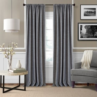 Elrene Pennington Rod Pocket Textured Solid Curtain Panel Pair