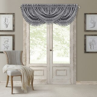 Elrene Antonia Blackout Rod Pocket/Back Tab Window Valance (4 options available)