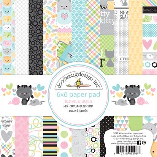 "Doodlebug Double-Sided Paper Pad 6""X6"" 24/Pkg-Kitten Smitten, 12 Designs/2 Each"