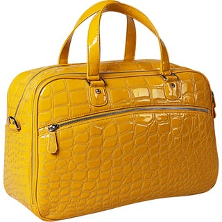 OUUL Alligator Embossed Weekender Duffel Bag (Option: Yellow)