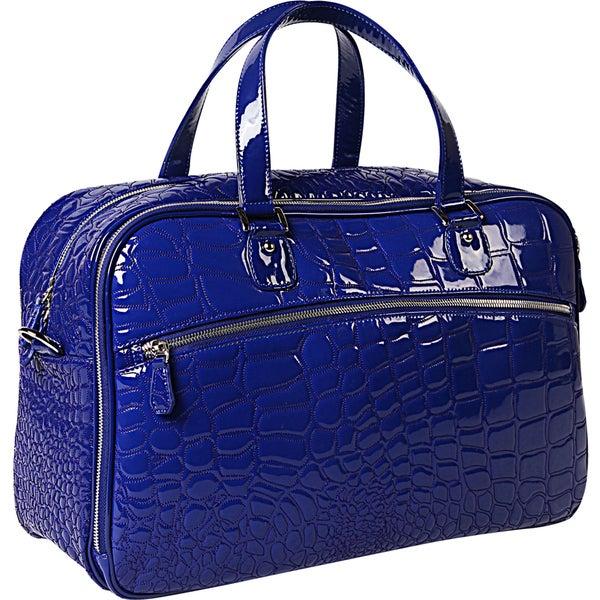 OUUL Alligator Embossed Weekender Duffel Bag