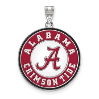 Sterling Silver LogoArt University of Alabama XL Enamel Pednt Necklace