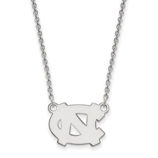Sterling Silver LogoArt University of North Carolina Small Pendant with Neckla