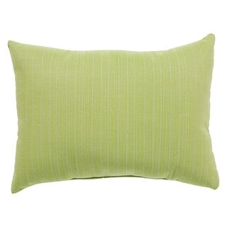 Amalfi Indoor/ Outdoor Solid Green/ Taupe Throw Pillow