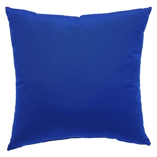 Tahiti Indoor/ Outdoor Solid Cobalt Throw Pillow