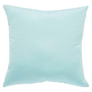 Tahiti Indoor/ Outdoor Solid Light Blue Throw Pillow