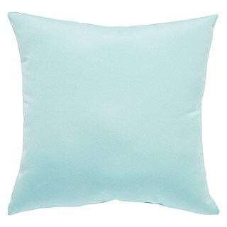 Tahiti Indoor/ Outdoor Solid Light Blue Throw Pillow