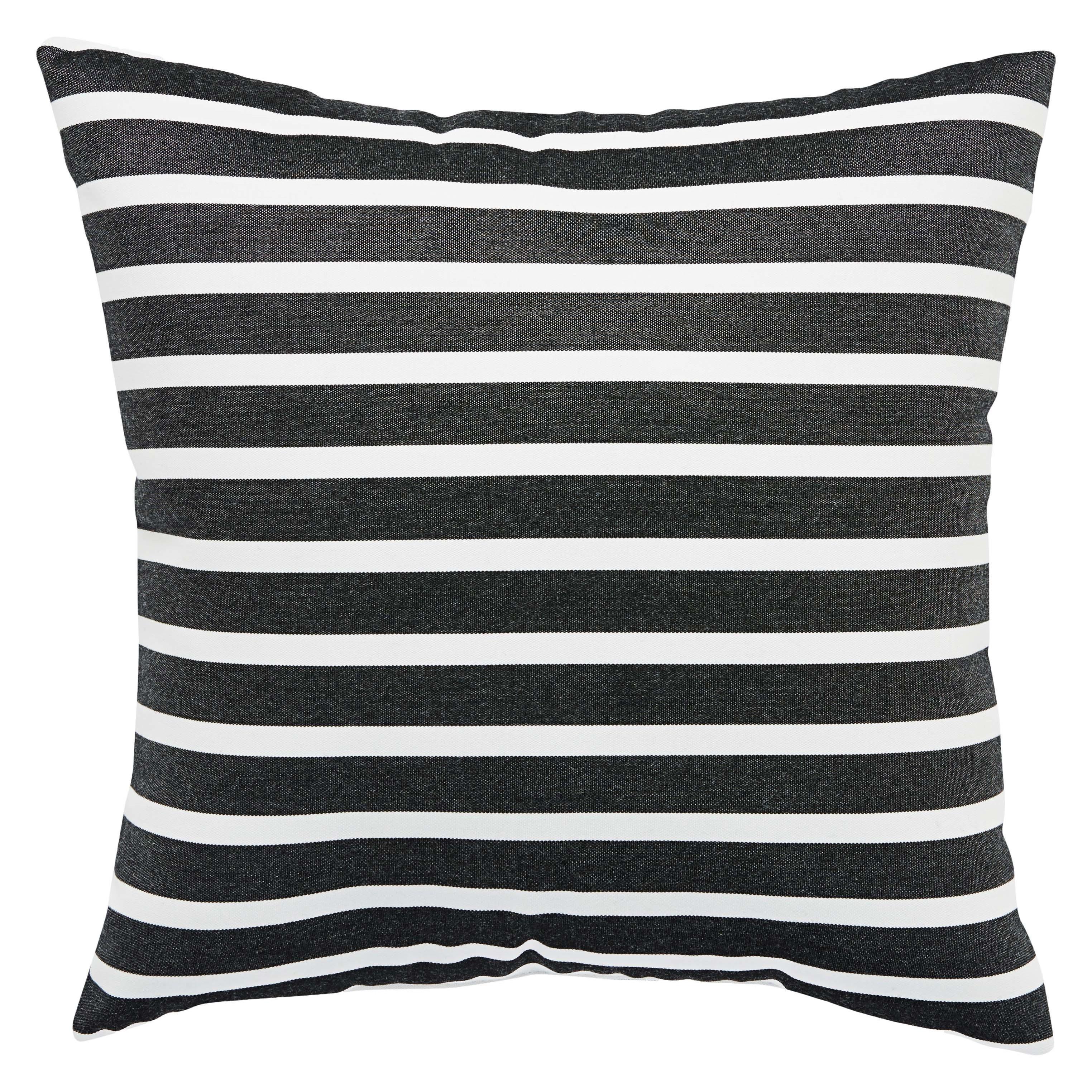 Charleston Indoor Outdoor Stripe Black White 18 Inch Throw Pillow Overstock 16399882