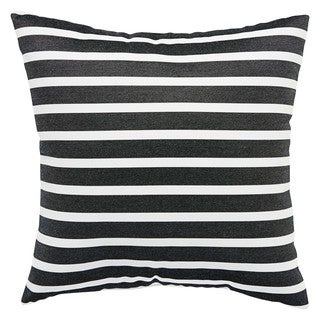 Charleston Indoor/ Outdoor Stripe Black/ White Throw Pillow