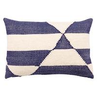 Tango Indoor/ Outdoor Geometric Blue/ White Throw Pillow