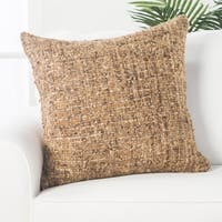 Marlena Solid Beige/ Ivory Throw Pillow