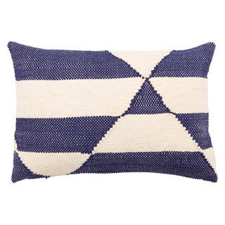 Nikki Chu by Jaipur Living Tangier Geometric Black/ Off-White Throw Pillow