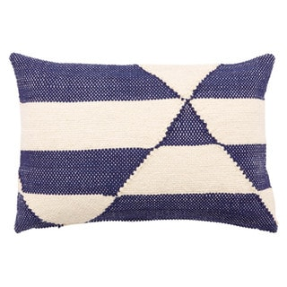 Link to Nikki Chu Caveat Geometric Navy/ White Throw Pillow Similar Items in Decorative Accessories