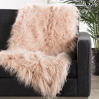 Allura Faux Fur Pink Throw