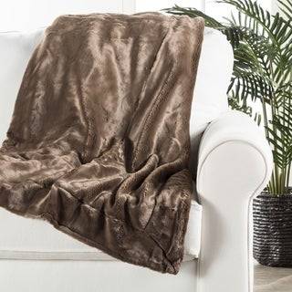 Denali Faux Fur Brown Throw