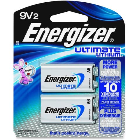 Energizer Ultimate Lithium 9V Batteries, 2 Pack