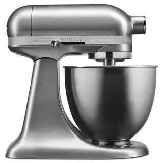 KitchenAid Contour Silver Artisan Mini 3.5 Quart Tilt-Head Stand Mixer (Refurbished)