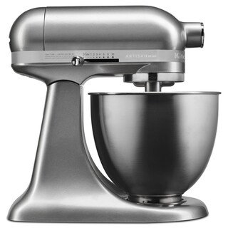 KitchenAid Contour Silver Artisan Mini 3.5 Quart Tilt-Head Stand Mixer (Refurbished)