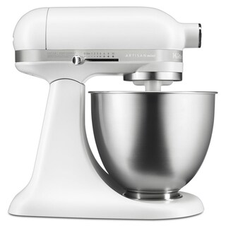 KitchenAid Matte White Artisan Mini 3.5 Quart Tilt-Head Stand Mixer (Refurbished)
