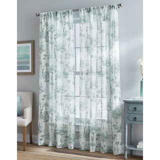 Floral Bella 84-inch Sheer Curtain Panel