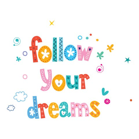 Dreams Wall Quote Decals